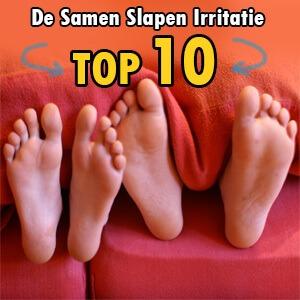 Irritaties van samen slapen (de top 10)